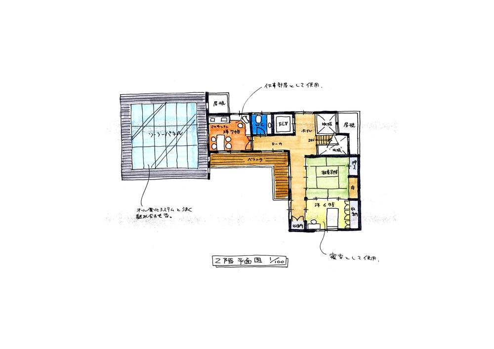 (仮称)中野町の家 提案図面 2階平面図