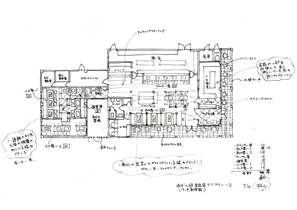 ねぎと卵奈良店(ケーキ店併設)提案図1