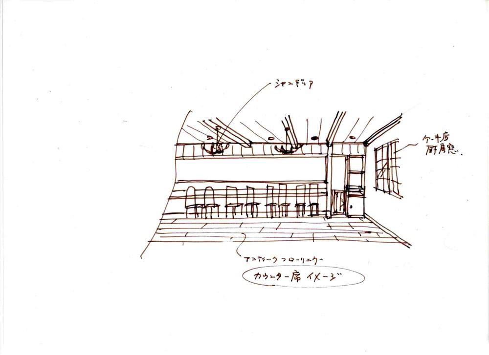 ねごと卵奈良店 カウンター席 提案図2