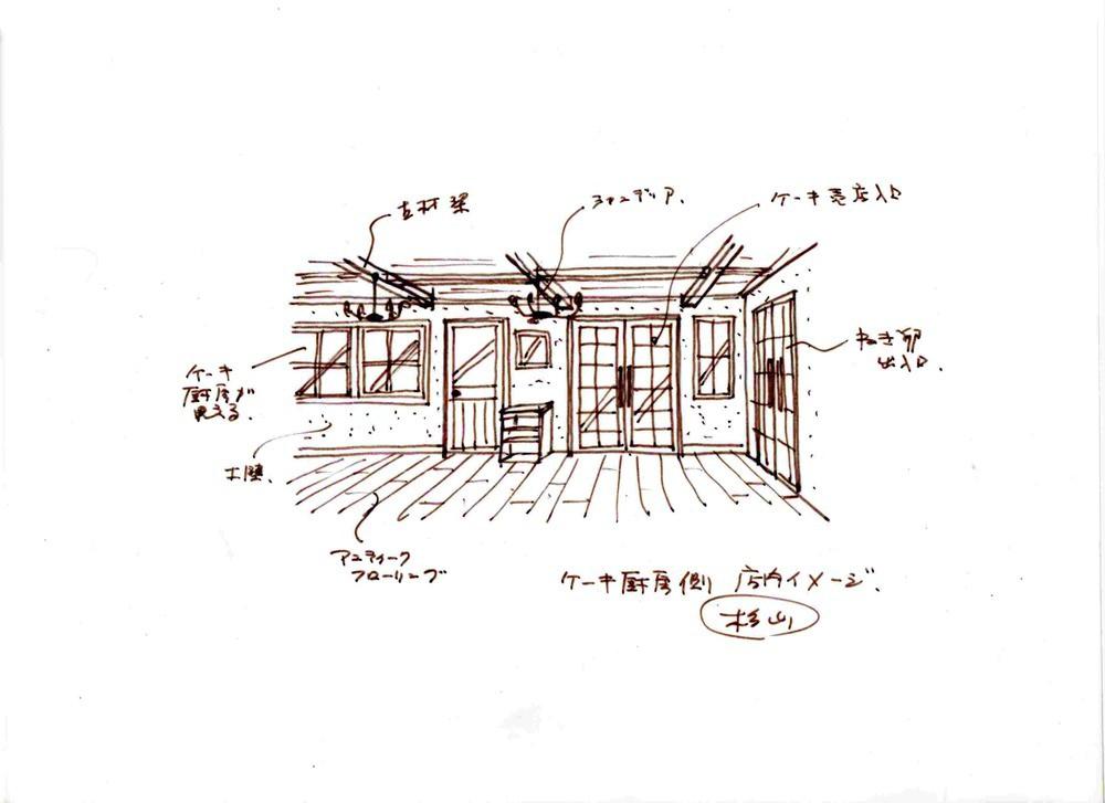 ねごと卵奈良店 ケーキ厨房側店内 提案図2