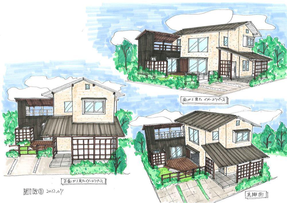 パークプレイス大分公園通りモデルハウス 提案図2 イメージパース